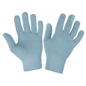 Just Silver Apparel - Deluxe 12% Silver Gloves - Blue