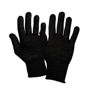 Just Silver Apparel - 12% Silver Gloves/Fingerless - Black