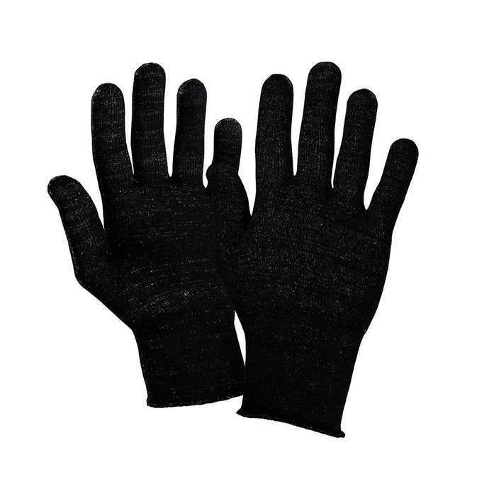 Just Silver Apparel - Deluxe 12% Silver Gloves - Multipack - Black