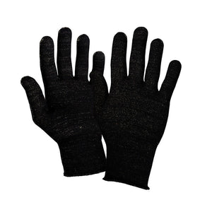 Just Silver Apparel - Deluxe 12% Silver Gloves - Black