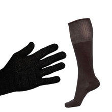 Load image into Gallery viewer, Just Silver Apparel - 12% Silver Gloves and 12% Long Silver Socks
