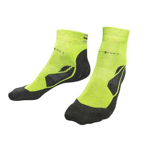 Just Silver Apparel - 12% Sports Sneaker Short Silver Socks Neon Green Multipack