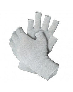 Just Silver Apparel - 12% Silver Fingerless Gloves - Multipack - Grey