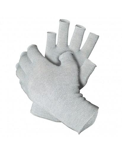 Just Silver Apparel - 12% Fingerless Silver Gloves French Melange