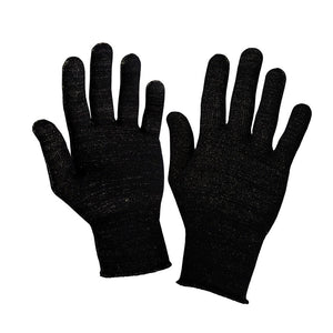 Just Silver Apparel - 12% Silver Gloves - Black