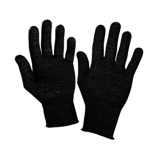 Just Silver Apparel - 12% Silver Gloves - Black Silver