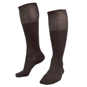 Bundle - Deluxe 12% Silver Long Socks with Free Heated 5% Silver Insole - Black