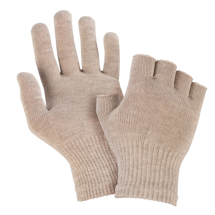 Just Silver Apparel - 8% Silver Gloves/Fingerless Silver Gloves Bundle - Silver Grey