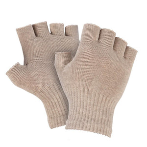 Just Silver Apparel - 8% Silver Fingerless Gloves - Silver Grey