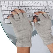 Load image into Gallery viewer, Just Silver Apparel - 8% Silver Fingerless Gloves - Silver Grey
