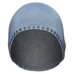 Just Silver Apparel - Deluxe 12% Silver Medical Beanie Hat - Blue