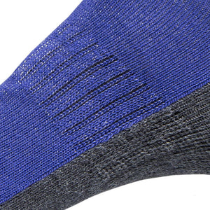 Just Silver Apparel - Silver Socks - 6% Silver Walking Socks - Royal Blue - Zoom