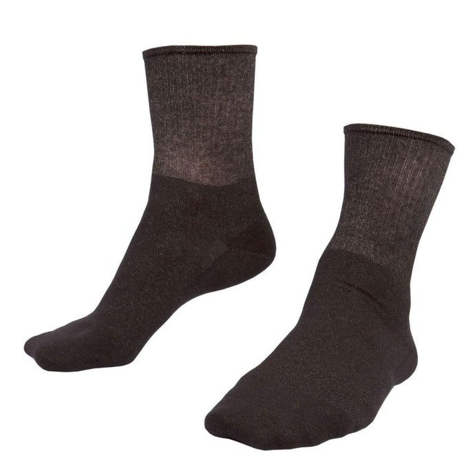 Just Silver Apparel - Silver Socks - Deluxe 12% Silver Short Socks - Black