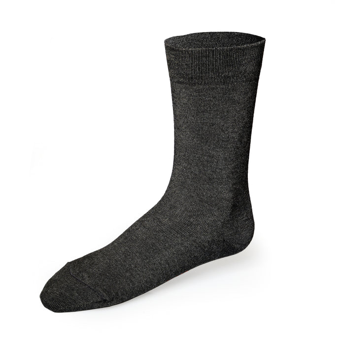 Just Silver Apparel - Bamboo 9% Short Silver Socks - Slate Grey