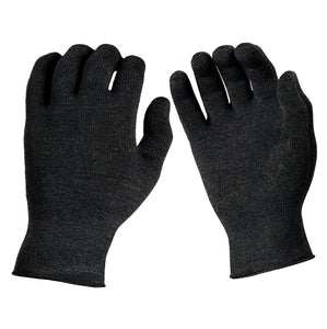Just Silver Apparel - Deluxe 12% Silver Gloves - Anthracite Black