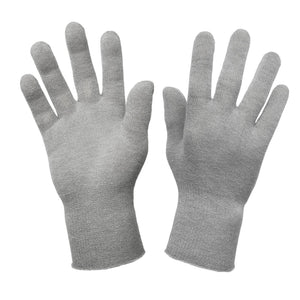 Just Silver Apparel - Deluxe 12% Silver Gloves - Grey