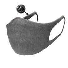 Load image into Gallery viewer, Just Silver Apparel - Deluxe 10% Silver Face Mask - Grey - Silver Fibre