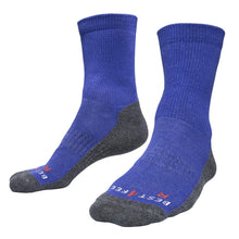 Load image into Gallery viewer, Just Silver Apparel - Silver Socks - 6% Silver Walking Socks - Royal Blue