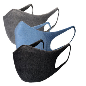 Just Silver Apparel - Bundle - Deluxe 10% Silver Face Mask - Grey/Black/Blue