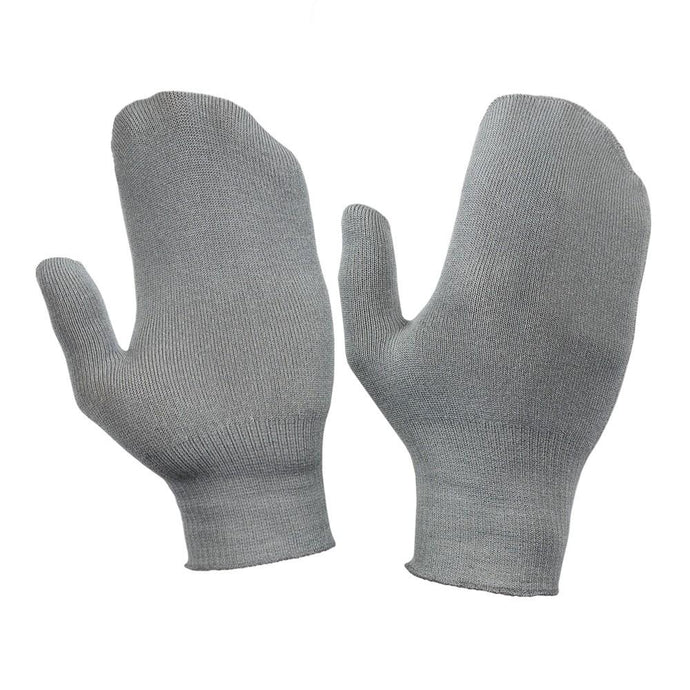 Just Silver Apparel - Silver Gloves - Deluxe 12% Silver Mitten - Platinum Grey