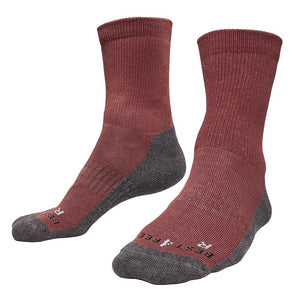 Just Silver Apparel - Silver Socks - 6% Silver Walking Socks - Merlot Red