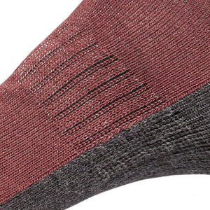 Just Silver Apparel - Silver Socks - 6% Silver Walking Socks - Merlot Red - Zoom