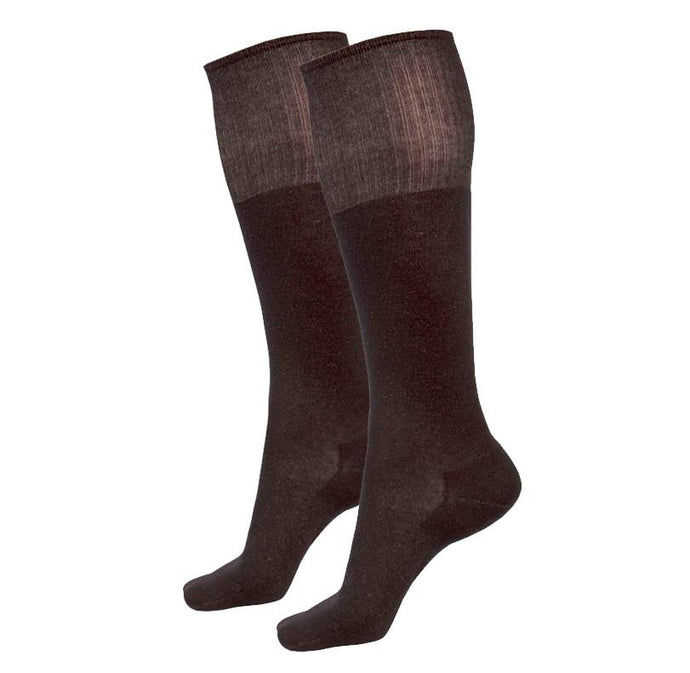 Just Silver Apparel - Deluxe 12% Long Silver Socks - Black Multipack