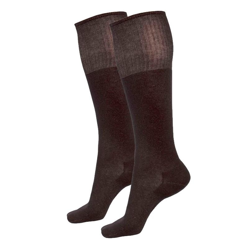 Just Silver Apparel - Deluxe 12% Long Silver Socks - Black
