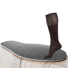 Load image into Gallery viewer, Just Silver Apparel - 12% Long Silver Socks and Free 5% Heated Insole