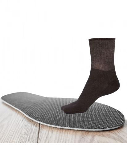 Bundle - Heated 5% Silver U-Cut Insole and 12% Silver Short Socks - Black