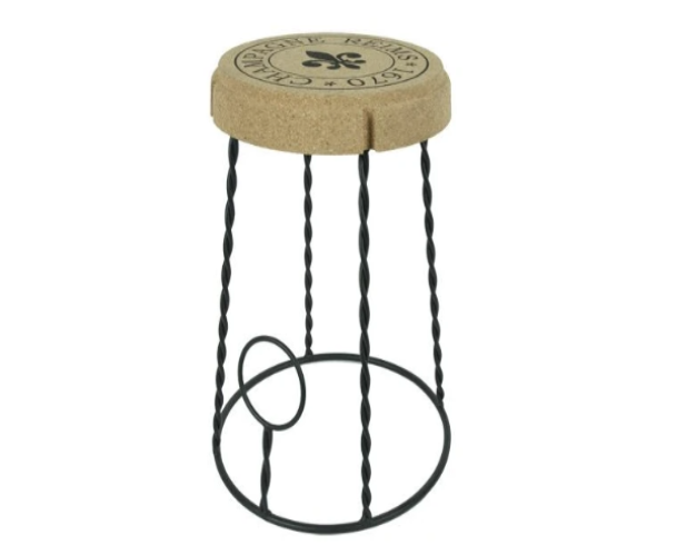 CORK AND METAL STOOL WITH PRINT