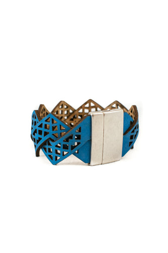 Blue Magnetic Cork Bracelet