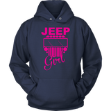 Jeep Girl Sweatshirt Hoodie Purple Design