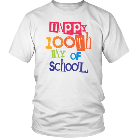 100 Day Of School Shirt Happy