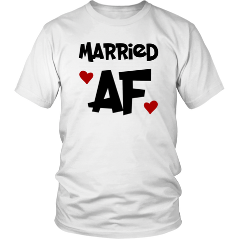Married Af Shirt Hearts