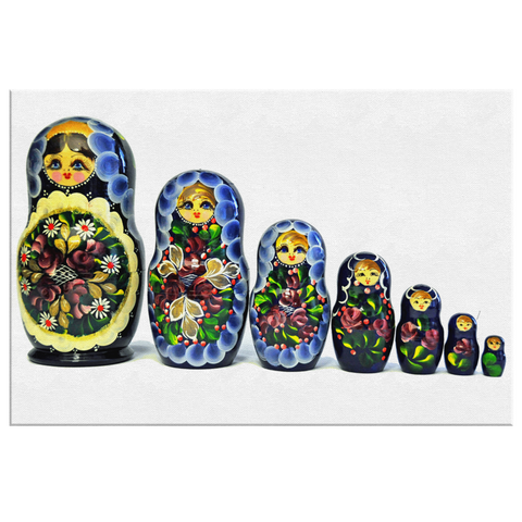 Russian Matryoshka Baby Painting Canvas Wrap