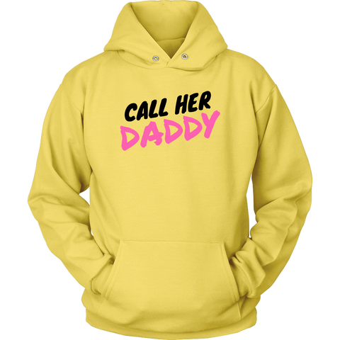 Call Her Daddy Sweatshirt Hoodie Black Pink