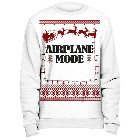 Airplane Mode Ugly Christmas Sweater