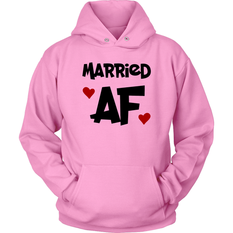Married Af Sweatshirt Hoodie Hearts
