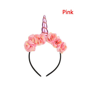 1 PC Rainbow Flower Unicorn Girls Hairband Kids