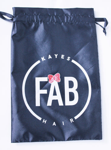 Satin Hair Extension Bag - Kaye's Fab Hair
