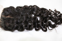 Virgin Brazilian Loose Curly Silk Base Closure