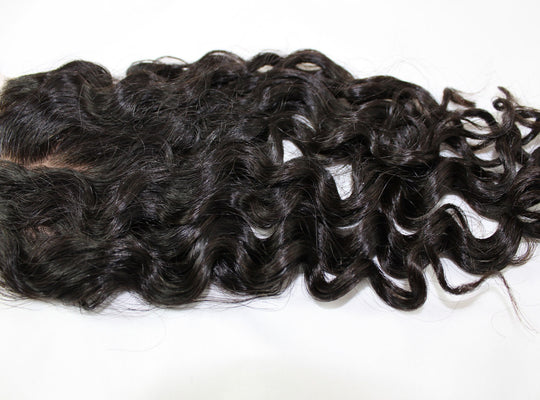 Virgin Brazilian Loose Curly Silk Base Closure - Kaye's Fab Hair