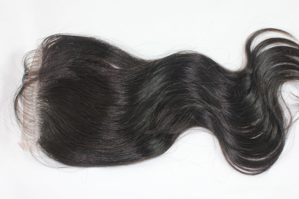 Virgin Brazilian Body Wave Lace Closure - Kaye's Fab Hair