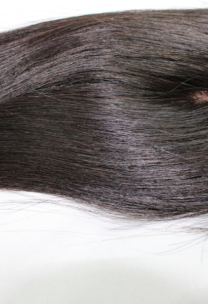 Virgin Brazilian Straight Silk Base Closure - Kaye's Fab Hair