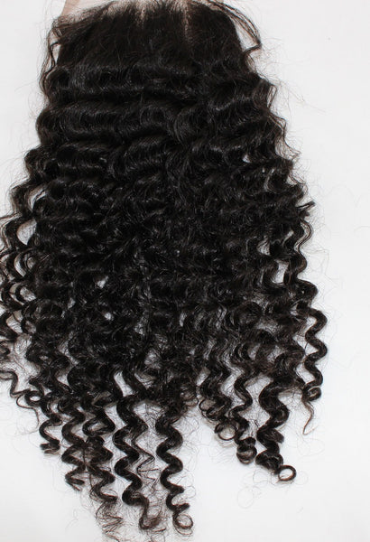 Mongolian Tight Curl Lace Closure - Kaye's Fab Hair