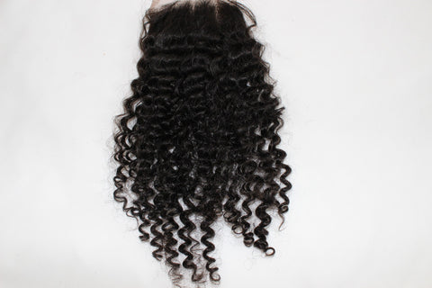 Mongolian Tight Curl Lace Closure