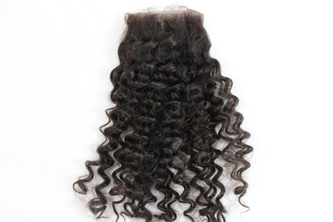 Virgin Brazilian Loose Curly Lace Closure - Kaye's Fab Hair