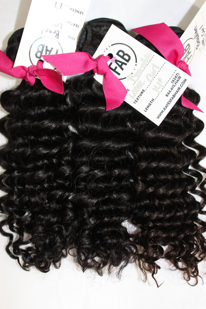 Virgin Brazilian Loose Curly - Kaye's Fab Hair