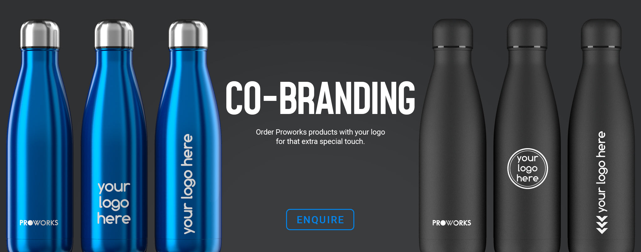 Proworks Co-Branded Water Bottles